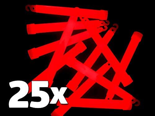 25 Power Knicklichter 150x15 mm ROT