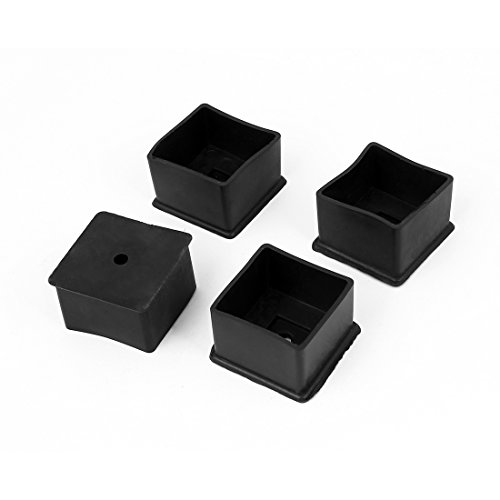 sourcingmap Lot de 4 protège-Pieds pour Chaise de Table 40 x 40 mm