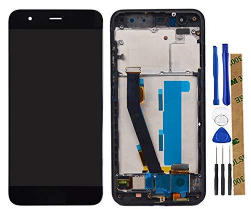 Stejnhge Pantalla LCD para Xiaomi Mi6 Mi 6 Reemplazo del Conjunto del Digitalizador de Pantalla Táctil Negro +Marco + Fingerprint