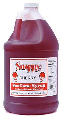 SNAPPY Cherry Sno Cone Syrup, 1 Gallon