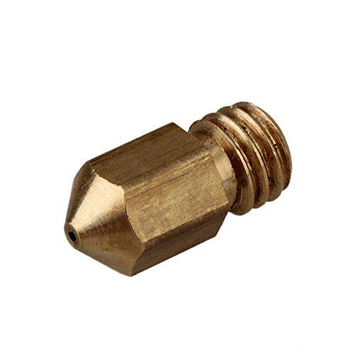 WEONE Giallo Rame 0,5 millimetri M6 rame estrusore ugelli della testina di stampa per 1,75 millimetri Filament MK8 stampante RepRap 3D (confezione da 5)