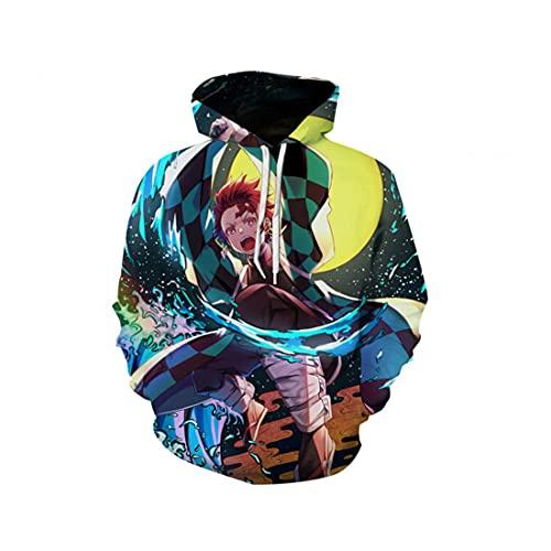 cshsb Demon Slayer Sudadera con Capucha con Estampado 3D Unisex Anime Jumper Carnival Costume Hoodie para Hombre Mujer,S,L-XL
