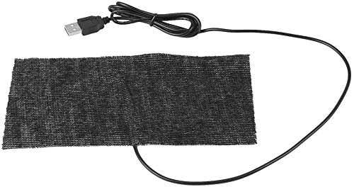 Belissy Heizmatte,Heizkissen USB,Heizmatte USB Anschluss,Warm Heizung, 1 PCS Schwarz 5V USB-Carbon-Faser Heizmatte 20 * 10cm Mauspad Warme Decke