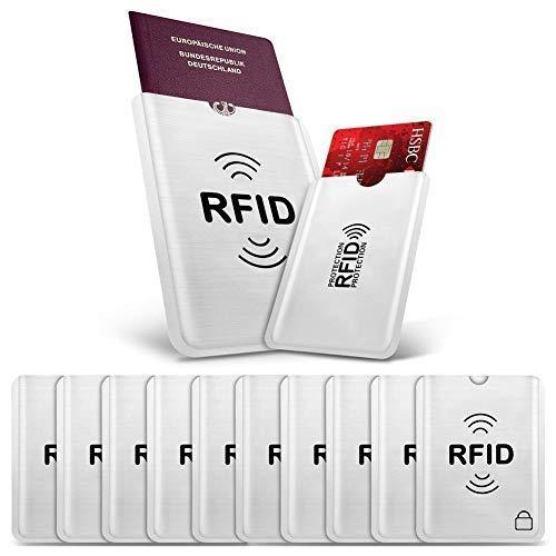FANCYLEO EU 10 Unidades RFID Tarjetas Crédito Tarjetas
