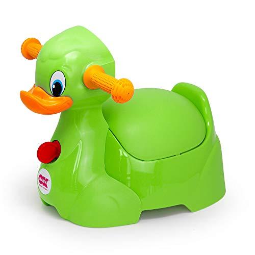 OKBABY Quack - Vasino per Bambini con Seduta Ergonomica, a Forma di Papera - Verde