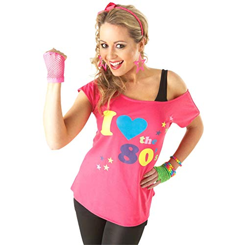 Rubies T-Shirt I Love The 80's, déguisement Adulte, Taille M