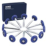 XiKe 12 Pack Blue 2' Nylon Garage Door Roller 4' Stem, Quiet/Durable and High Load, Use 6200-2RS Double Seals Precision Bearings.