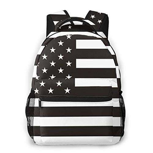 Lawenp American Flag Travel Laptop Backpack Business Anti Theft Slim Durable Laptops Backpack Water Resistant College School Computer Bag for Women & Men Fits 15.6 Inch Notebook