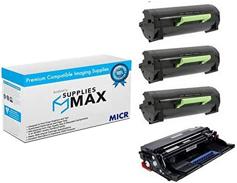 SuppliesMAX Compatible MICR gift Replacement for M5155 Lexmark At the price of surprise 5163 5