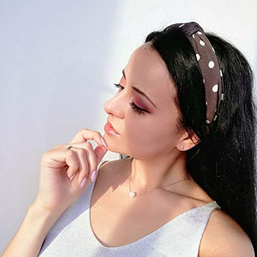 DRESHOW 10 Pieces Wide Headbands Knot Turban Headband Hair Band Elastic Hair Accessories for Women and Girls