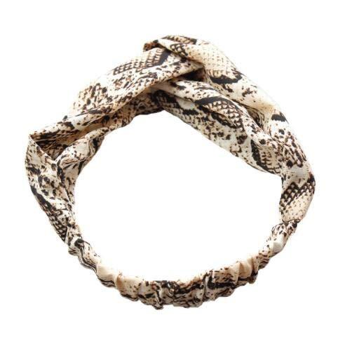 Diadema de moda para mujer con diseño de serpiente de serpiente impresa para el pelo de la señora Cruz salvaje Accesorios para el cabello Headwrap