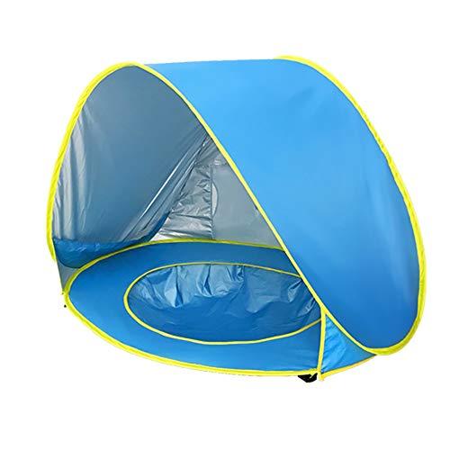 QinnLiuu Baby-Strandzelt Pop-up-Zelt Tragbarer Sonnenschutz UV-Schutz Markise, Mini-Pool und Abnehmbarer Sonnenschutz für Kinder, Babys & Kinder, 50 + UPF,3