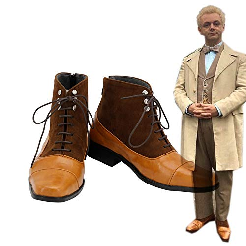 Good Omens Aziraphale Cosplay Shoes Angel Aziraphale Boots Shoes Custom Made European Size 40