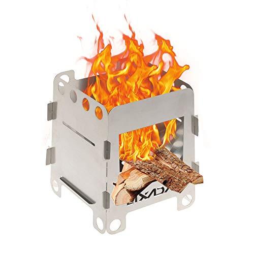 Plein air Portable Pliable Charbon De Bois Barbecue Grill en Acier Inoxydable Pique-Nique Barbecue Camping Pot Support De Support de Po/êle Rack Lixada Grill