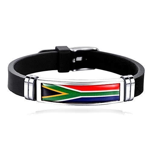 Pulsera de estilo bandera de Sudáfrica, ajustable, para viajes, recuerdo