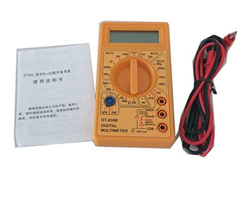 Cables de Prueba Kit, Mini Multímetro LCD Digital para Volt AMP OHM...