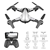 YHM Drone Double Caméra 4K Haute Définition, Distance De Contrôle De Positionnement GPS Drone Pliable De 100 Mètres, Emportez-Le avec Vous,c