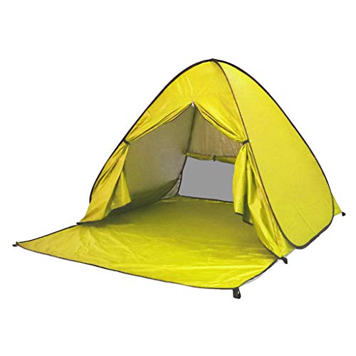 TTlove Pop Up Tent, Beach Camping Tent Foldable Outdoor UV Lightweight Waterproof tent as Sun Shelter Children Family and Dog on Garden, Beach(Yellow,150x165 x110cm)