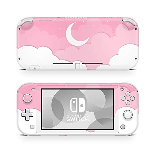 Switch Lite Skin Vinyl Stickers Accesorios de 46 North Design, Misma Calidad De Dacal Para Autos, Kawaii Moon Cloud White Star Sky Cute Anime Pinky, Alta Calidad, Duradero, Fabricado En Canadá