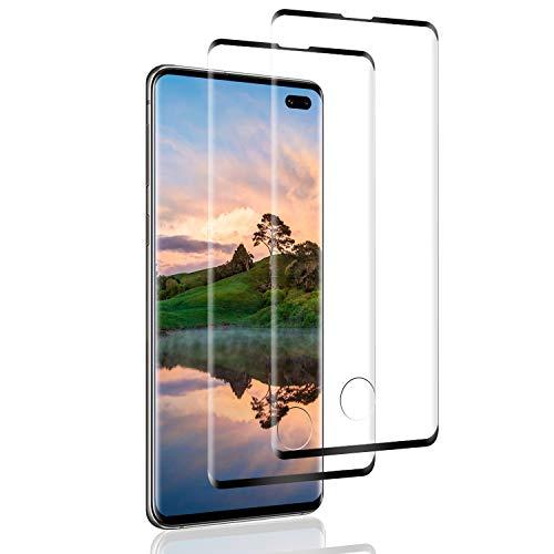 SNUNGPHIR 2 Pack Protector de Pantalla para Samsung Galaxy S10 Plus,[3D Curvo Full-Cover] Cristal Templado Galaxy S10 Plus, Sin Burbujas, Alta Definicion, Vidrio Templado para Galaxy S10 Plus