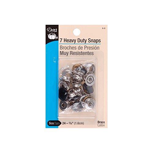 Dritz 5-3 Heavy Duty Snaps, Black, Size 24 (5/8-Inch) 7-Sets