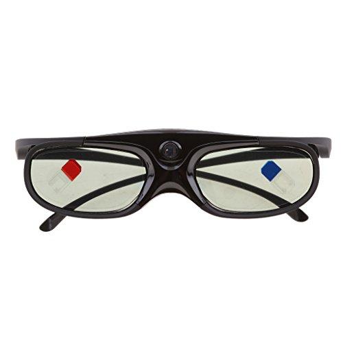 B Blesiya Gafas Activas 3D DLP-Link Recargables para Proyector Optoma/BenQ/Negro