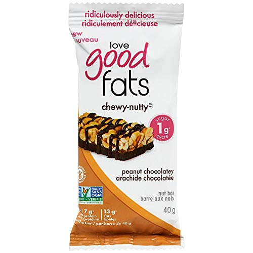 Love Good Fats Chewy Nutty Peanut Chocolatey Bars, Count-4, 480 g