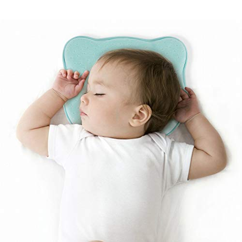 Newborn Baby Head Shaping Pillow,Preventing Flat Head Syndrome(Plagiocephaly),Made of Memory Foam Head and Neck Support Baby 3D Pillow for 0-12 Months Infant