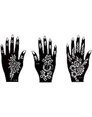 Henna Tattoo sjabloon 3 sheet voor handen pila