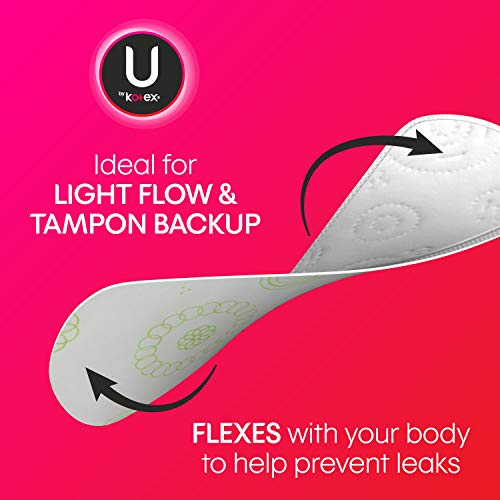 U by Kotex Lightdays Panty Liners, Long, Unscented, 126 Count