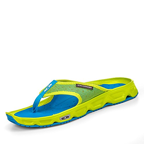 Salomon RX Break Chanclas Hombre, Amarillo (Lime Punch/Imperial Blue/Cloisonné), 42 EU
