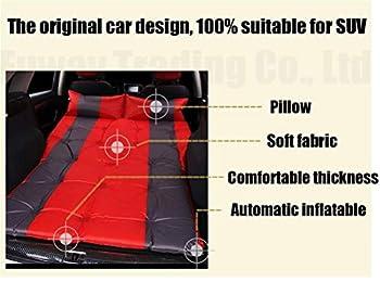 Matelas pneumatique de voiture, matelas extérieur de lit de voyage, matelas arrière de voiture de siège arrière, y compris la pompe d'aspiration appropriée à la plupart des petites voitures Super conf