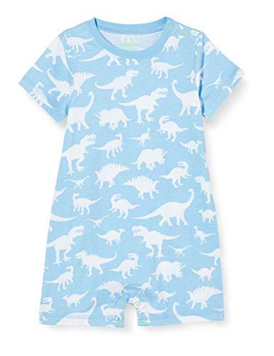 Hatley Romper Barboteuse, Bleu (Dino Silhouettes 400), 6 Mois Bébé Fille
