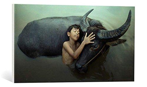 kunst für alle Leinwandbild: Fahmi BHS Peaceful - hochwertiger Druck, Leinwand auf Keilrahmen, Bild fertig zum Aufhängen, 75x40 cm