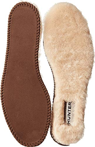 HUNTER Luxury Shearling Insoles Natural 9