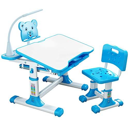 ZWWZ Estudio de Estudiante Tabla para niños Escritorio y Silla de niños para niños Estudiante Estudiante Estudio Escritorio Desktop de Escritorio para niños (Color: Azul, Tamaño: OnesIZO) MISU