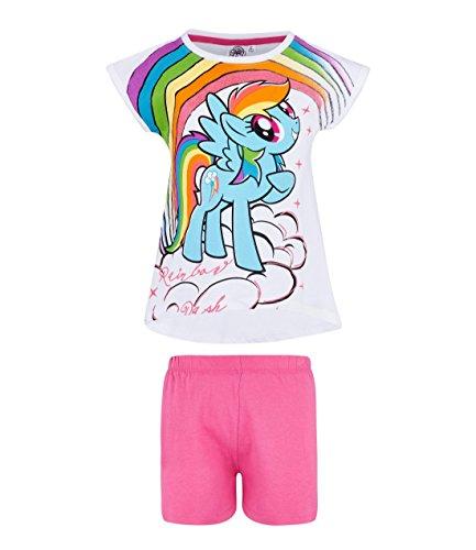 My Little Pony Chicas Pijama Mangas Cortas - Blanco - 92