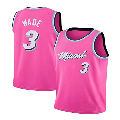 Yanhuimin Nba Jersey Wade Heat 3 Jersey Team Uniform Competitie Trainingspak Drie kleuren Optioneel Geborduurd Mesh Sport Shirts