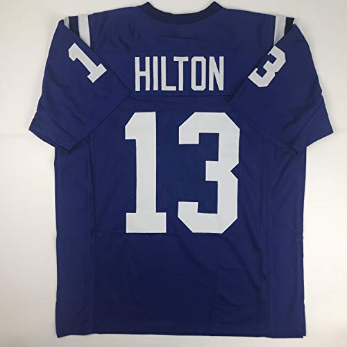 Unsigned TY T.Y. Hilton Indianapolis Blue Custom Stitched Football Jersey Size Men's XL New No Brands/Logos