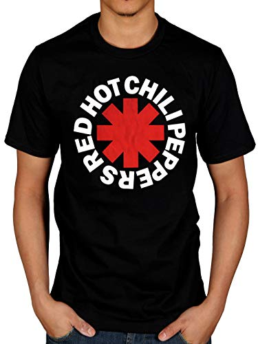 AWDIP Men's Official Red Hot Chilli Peppers T-Shirt Rock Group Punk Hippie
