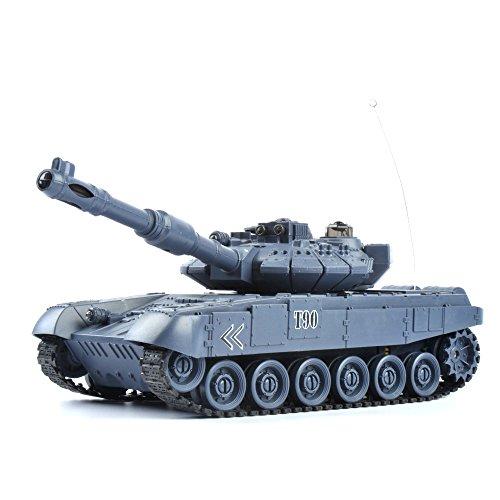GizmoVine RC Panzer Russland T90 1:28 Maßstab - Ferngesteuertes Kampfpanzer Spielzeug Tank für Kinder, Jungs 27Mhz - Navyblau