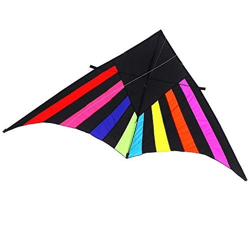 Single Line Kite Huge Rainbow Kite for Children and Adults Great Outdoor Toy for Beginners Makes a Great Gift for children from 3 years old (Color : Multi-colored, Size : One size)