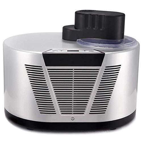 Pequeña máquina de Helados, Helado automático para el hogar, se Utiliza para Hacer Helados de Fruta, Sorbete, Yogur congelado, Adecuado para Uso doméstico, Helado (Plata-Blanco) HMP (Color : Gray)