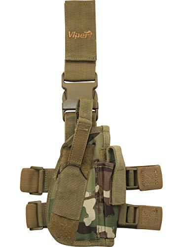 Viper TACTICAL - Funda de Pistola Vertical para Pierna - para diestros - V-CAM