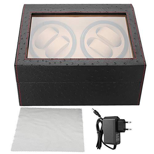 Jacksking Uhrenbeweger, mechanischer Uhrenbeweger für 4 Automatikuhren 6 Armbanduhr Aufbewahrungsvitrine, Automatikbox(#4)