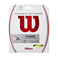 Wilson(ウイルソン) テニス ストリング ガット SYNTHETIC GUT POWER 16 (シンセティック ガット パワー 16) WR830130416 YELLOW (1.30mm) [単張り]