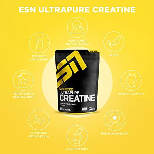 ESN Ultrapure Creatine Monohydrate, Pro Series, 1er Pack (1 x 500g Beutel) - 5
