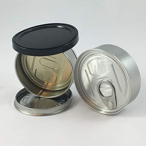 20X presse en thon des canettes auto scellé 100 ml 3.5 G Pop Haut étain avec couvercle