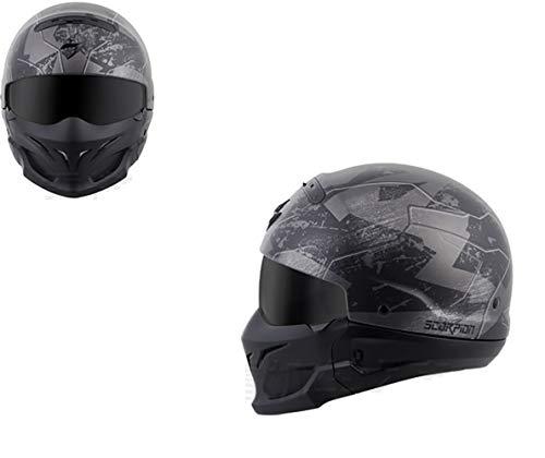 gengyouyuan Casco combinado Casco retro Harley moto Casco integral casco de escorpión de gran tamaño