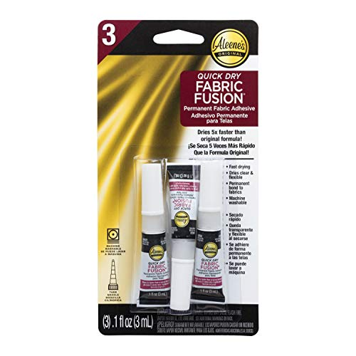 Aleene's 40668 Quick Dry Fusion Fabric Adhesive, 0.1 fl oz - 3 Pack, Clear